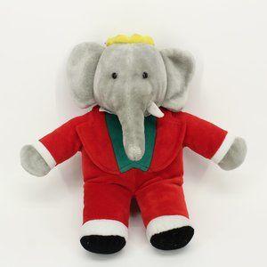 Vintage Babar Elephant Stuffed Animal Doll